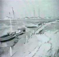 kustenlandschaft mit segelbooten by max köcke-wichmann