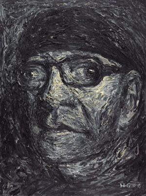 自画像 self portrait by he gong