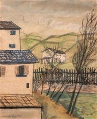 landschaft mit häusern by adriano spilimbergo
