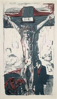 kreuzigung ii (gekreuzigter mit glattem hüfttuch) by otto dix