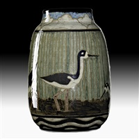 vessel with black-necked stilts by james mcconnell anderson