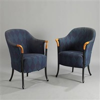 easy chairs (pair) by umberto asnago