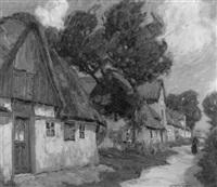 friesische dorfstrasse (boldiseum auf föhr) by georg lehmann-fahrwasser