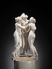 three graces by antonio canova