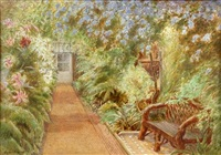part of the long corridor, persimmon range, the gardens, sandringham by cyril ward