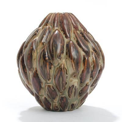 royal copenhagen vase modelled in budded style by axel johann salto
