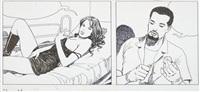 femme lascive sur un lit by milo manara