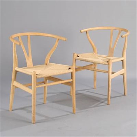 y chairthe wishbone chair pair by hans j wegner on artnet. Black Bedroom Furniture Sets. Home Design Ideas
