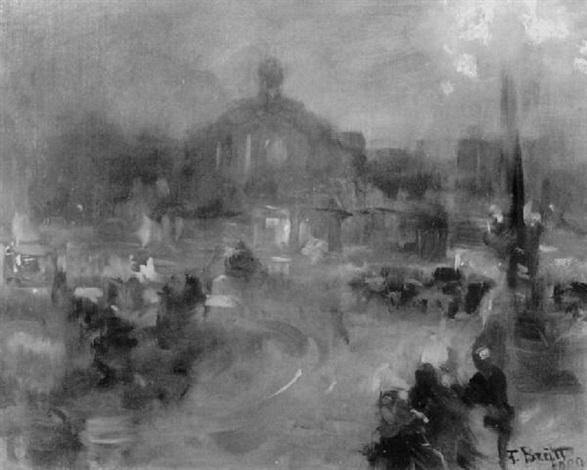 frankfurter hauptbahnhof bei nacht by ferdinand brutt