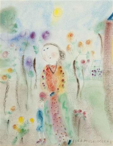 cabaret dancer (+ the rose garden; 2 works) by dora holzhandler