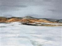 a winter landscape by xu fusheng
