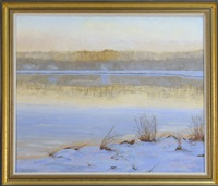 cape cod marsh in winter by ruth hogan