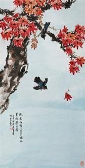 枫叶翠鸟 by huang leisheng