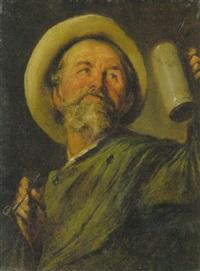 mann mit pfeife und bierseidel by richard paul