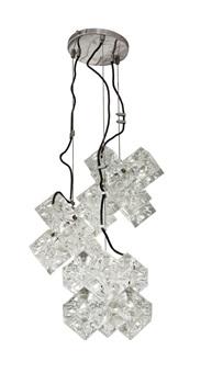 lampadario con struttura by poliarte