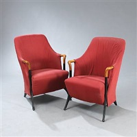progetti blossom easy chairs (pair) by umberto asnago
