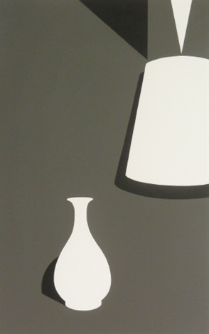 lamp and lung chuan ware from white ware suite by patrick caulfield