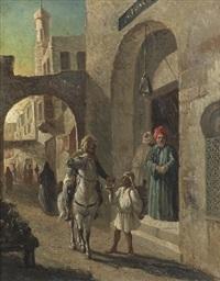 orientalische strassenszene by lieutenant long