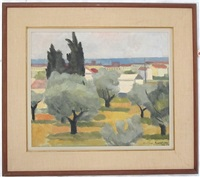 view from villa no.9 via strozzi, quinto by william walton armstrong