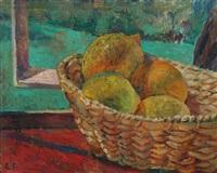 still life with citrus fruits by ellen fischer