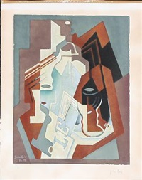 cubistic composition by juan gris