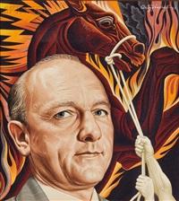 portrait of david lilienthal by boris artzybasheff