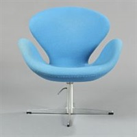 the swan easy chair by arne jacobsen