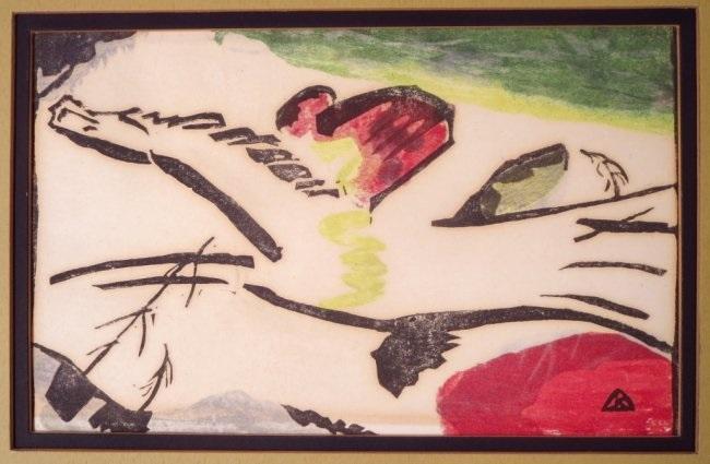 wassily kandinsky derrier le miroir prints