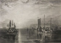 sunrise whiting fishing at margate (after joseph mallord william turner) by thomas goff lupton