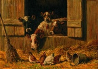 in the barnyard by edward burrill