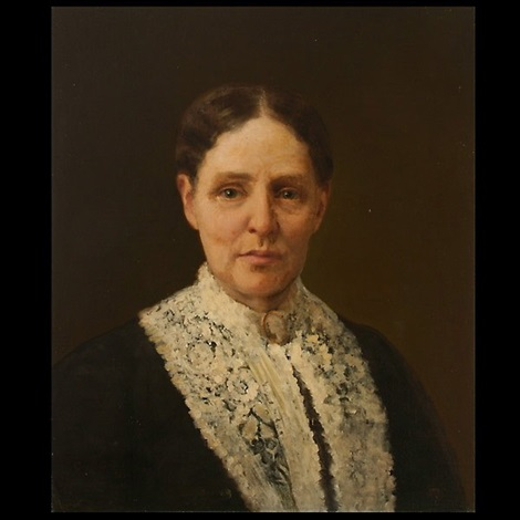 portrait of an elder woman by carl guthers gutherz