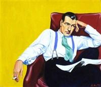 sitzender mann by martin arz