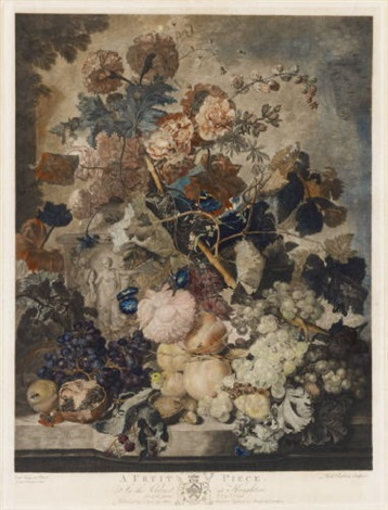 a fruit piece after jan van huysum by richard earlom