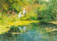 children fishing by vladimir gusev