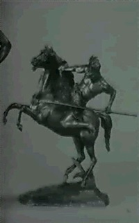 cast as an american indian warrior on horseback by lemoine