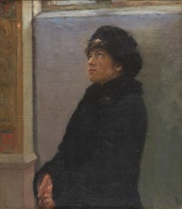 interior with a woman by vassilij filippovich levi