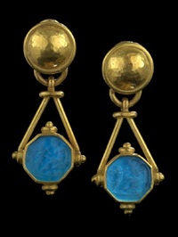 pendant earrings by elizabeth locke