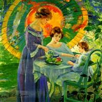 tea time under the umbrella by robert hartley cameron