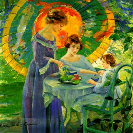 tea time under the umbrella by robert hartley cameron