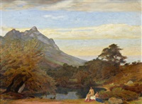 bathers in a landscape by william mervyn glass