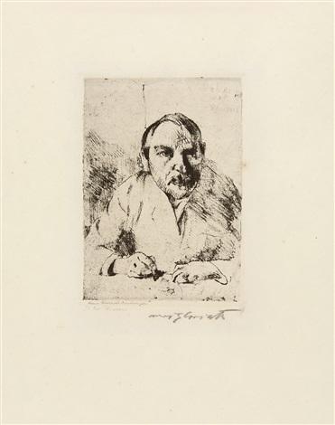 selbstbildnis, pl.iv (from sieben radierungen von lovis corinth) by lovis corinth