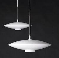 diskus pendant lamps (pair) by östen kristiansson