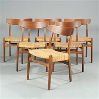 ch 23 chairs (set of 6) by hans j. wegner