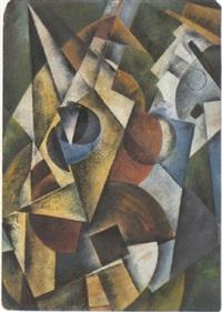 kubistische komposition by samuel jakovlevic adlivankin