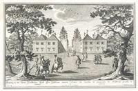 eingang in den lustort hellbrunn bei salzburg by franz anton danreiter
