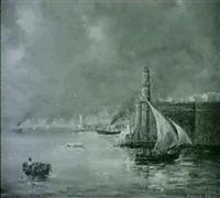 entree de port marseille by gerarda hermina marius eraud
