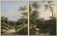 Views of the Welsh Countryside, a pair