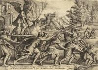 triumph der zeit, pl.4 (from petrarca. trionfi) by georg pencz