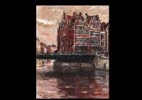 landscape of gent (belgium)(+ montmartre; 2 works) by osamu konma