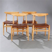 w2 dining chairs (set of 4) by hans j. wegner
